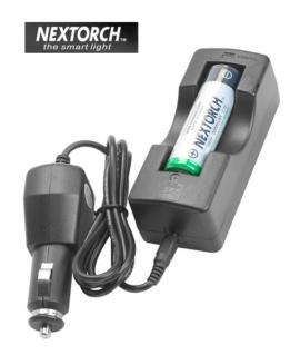 Зарядний пристрій автомобільний NexTorch СС3-L для акумуляторів NT18650